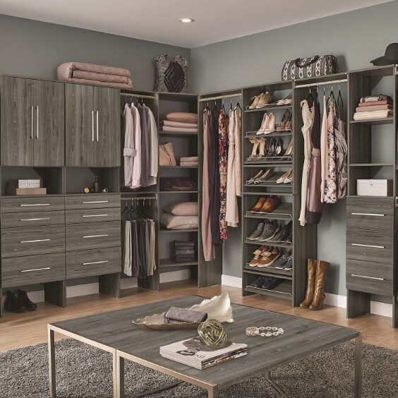 Closet Organizers The Home Depot In 2020 Wood Closet Systems Closet System Closet Organizers