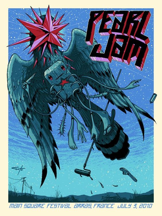 Image result for pearl jam jeff soto poster france