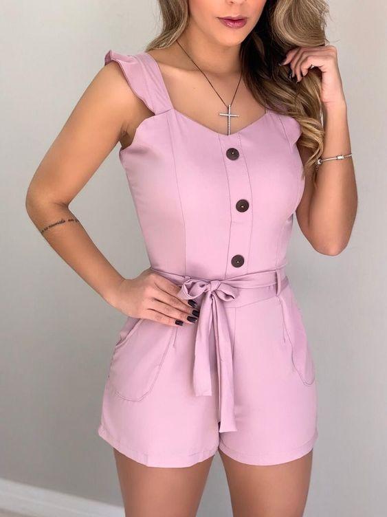 Look macaquinho rosa