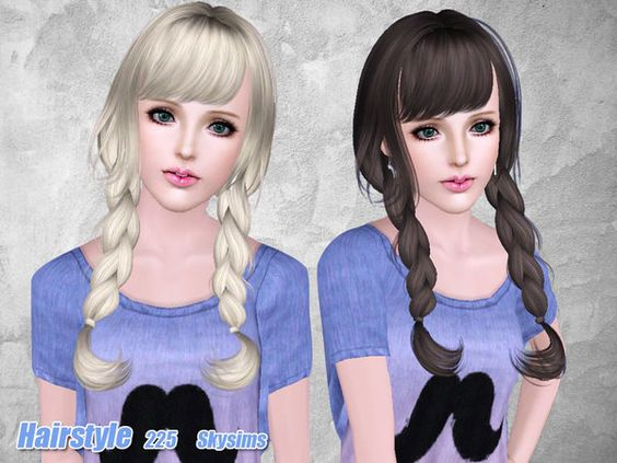 Groovy Light Braided Hairstyle 225 By Skysims For Sims 3 Sims Hairs Hairstyles For Women Draintrainus