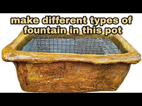How To Make Cemented Fountain Pot Youtube Cement Pots Asian Paints Fountain