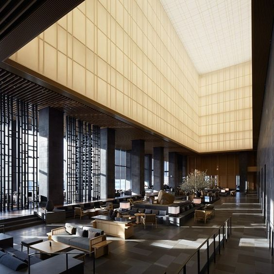 Pin By L Sj On Kyoto Hotel Lobby Lounge Hotel Architecture