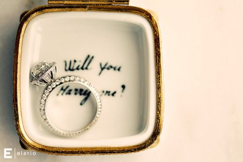 This is a really cute engagement idea.  Usually I just toss the ring boxes, but I would save this one