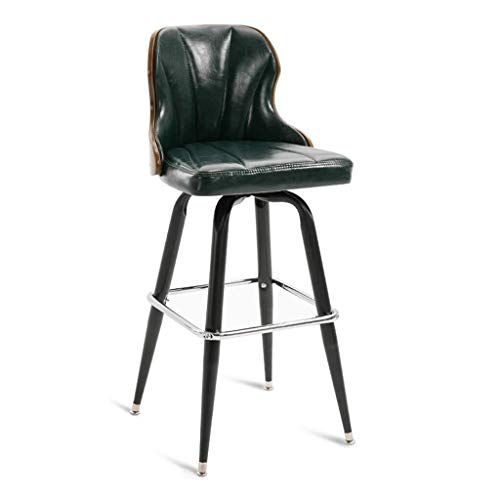 Xuexue Bar Stool Pu Leather Back Pad Bar Chair Soft And