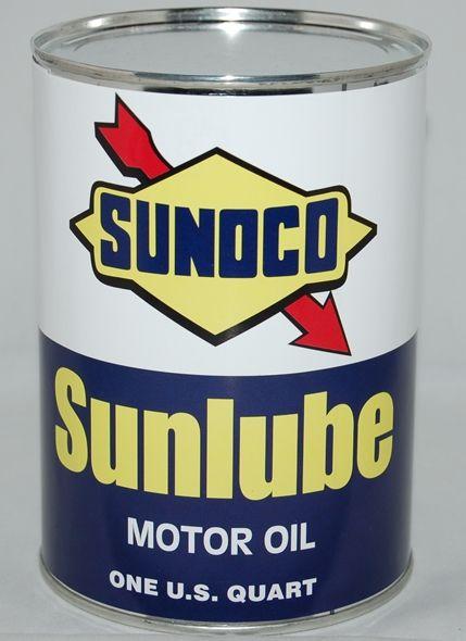 #vintage Sunoco oil can.   www.gaspumpheaven.com #sunoco #oilcan