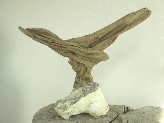 Treibholz-Skulptur EINEN VOGEL HABEN ~ driftwood sculpture