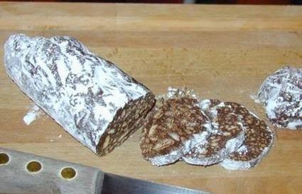 Saucisson au chocolat aux petits-beurre