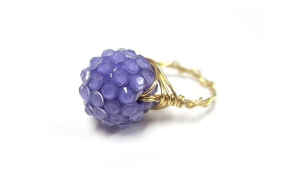 Purple Cocktail Ring by taralynndesigns on Etsy, $25.00
