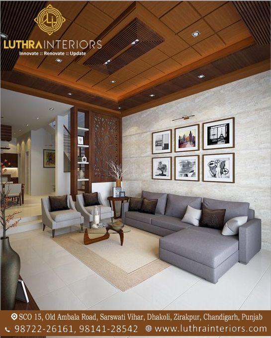 Commercial Interior Designer In Chandigarh Ceiling Design Living Room Ceiling Design Bedroom Living Room Partition Design