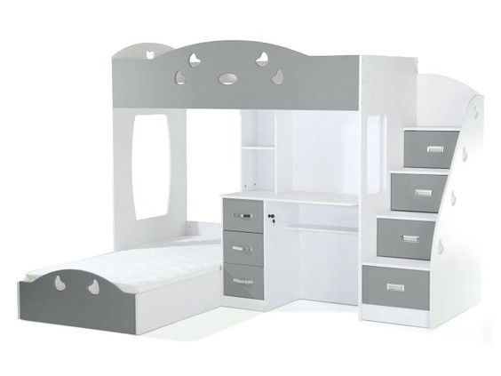 Lit Superpose Leclerc Medium Size Of Lit Superpose Avec Rangements Et Bureau 90x190cm Combal Woodworking Projects Furniture Joinery Design Woodworking Projects