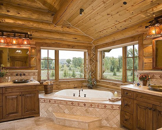 The Art Gallery Bathroom Log Home Interior Photos Design Pictures Remodel Decor and Ideas page Dreamin u Pinterest Logs Cabin and Log cabins