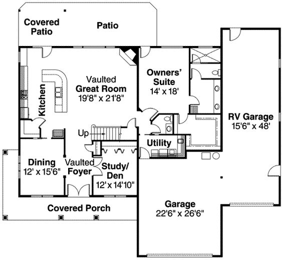 RV Garage Home Floorplan We Love It