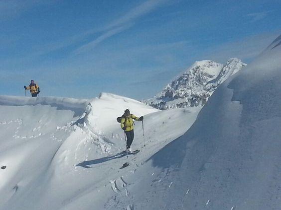 Esqui de montaña en los Alpes