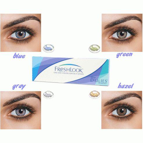 Freshlook One Day Colours farbige Tageslinsen mit Stärke-Korrektur 10er Pack von Ciba Vision