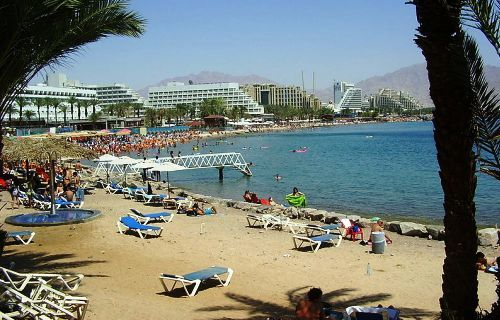 North Beach in Eilat is the most popular with local and tourists