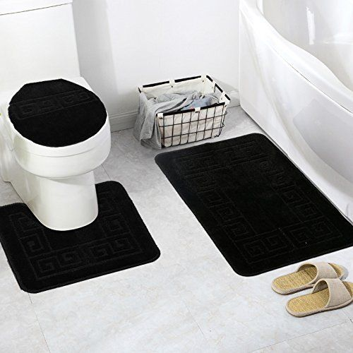 Pauwer 3 Piece Bath Rug Set Pattern Bathroom Rug 28 4 X17 7