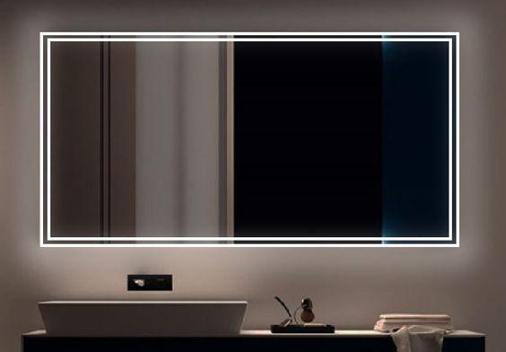 100x80 189€ 100x70 169€ LED BAD SPIEGEL Badezimmerspiegel mit Beleuchtung Badspiegel Wandspiegel Marta