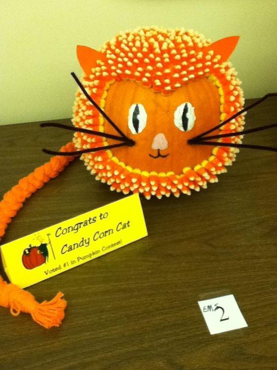 Candy corn cat