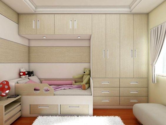 quartos pequenos com moveis planejados Pesquisa Google  ~ Quarto Solteiro Pequeno Planejado