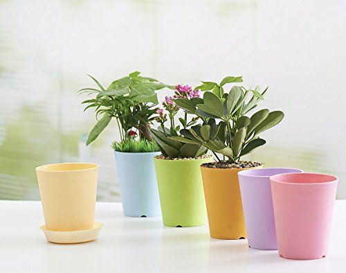 12 Inch Beige European Relief Environmental Planter Resin Flower Pot With Saucers Learn More By Visiting The Image Plastic Vase Plastic Flower Pots