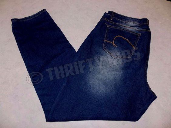 Revolt Classic Denim Blue Jeans Dark Wash Straight Leg Women's 16 FreeShip…