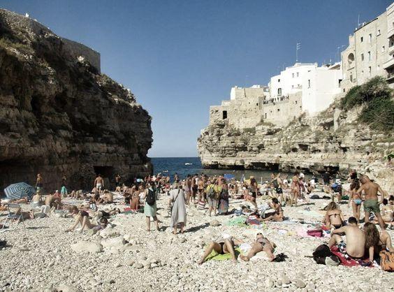 Spiaggia Lama Minachile #polignano #beach #lamamonachile #puglia #italy