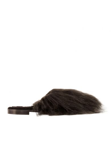 AVEC MODÉRATION Avec Moderation Shop Online Avec Moderation Leather Loafers Covered By Black Fur. #avecmodération #shoes #avec-moderation-shop-online-avec-moderation-leathe