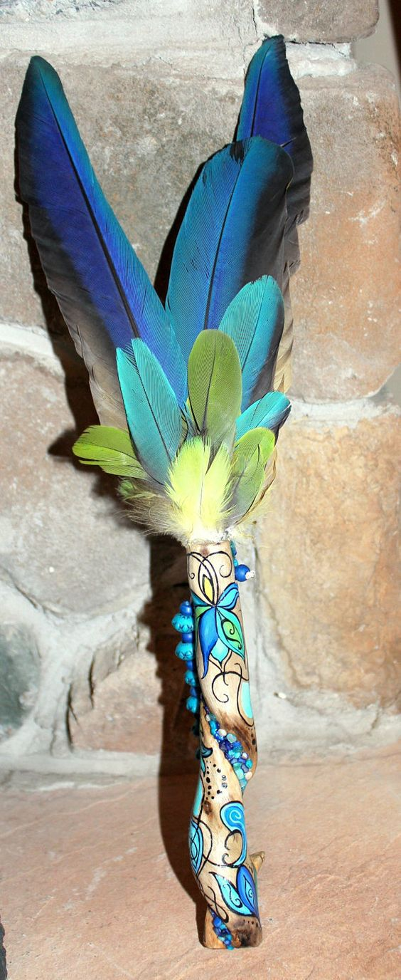 Amazing Twited Smudge Fan/Talking Stick with Painted by FairyFresh