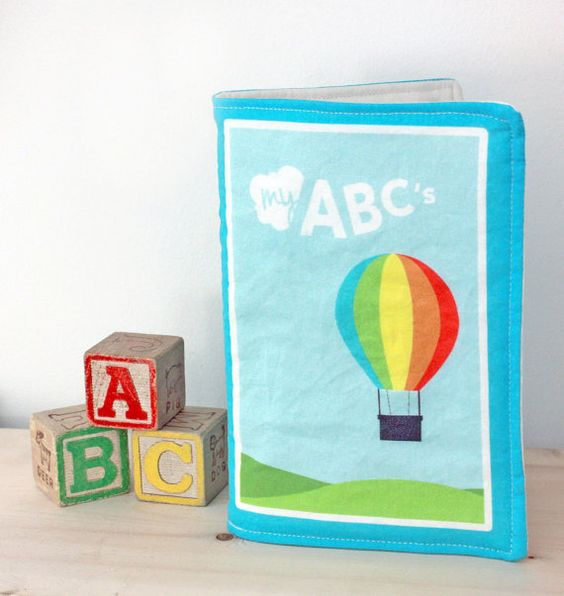 Fabric Book  Baby Quiet Book  ABC's Book by MarketEightyNine