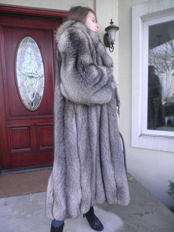 indigo fox fur coat