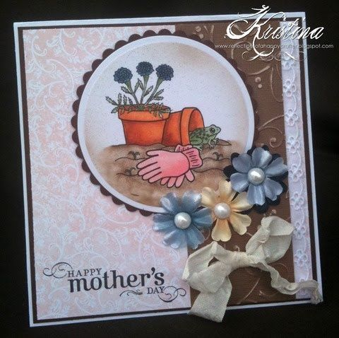 Image result for handmade cards with small flower pots