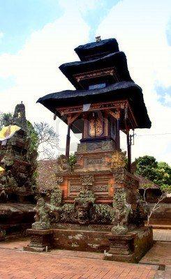 Traditional balinese temple - pura batuan bali