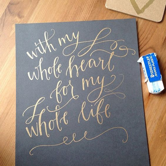 Custom Calligraphy Hand Lettered Print Down Payment