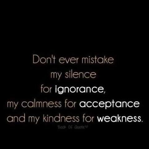 Don't mistake