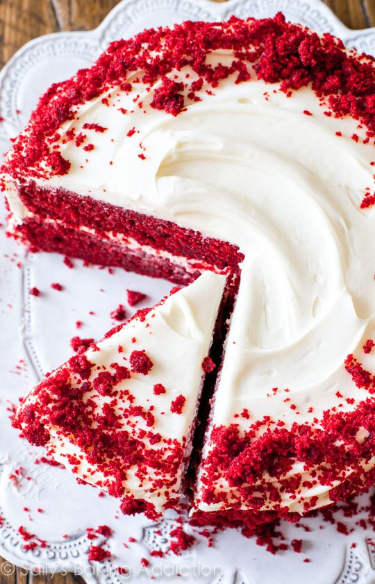 Red Velvet Layer Cake with Cream Cheese Frosting by sallysbakingaddiction.com. Learn all my tricks and tips to perfecting this classic recipe at home!