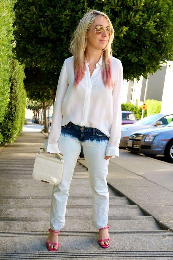 dip dye jeans + dip dye hair