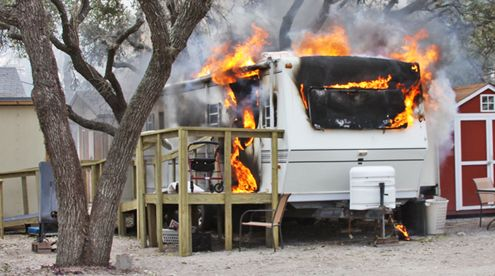 Space Heaters Deadly as Cause of RV Fires -Posted March 9, 2014 by Rex Vogel