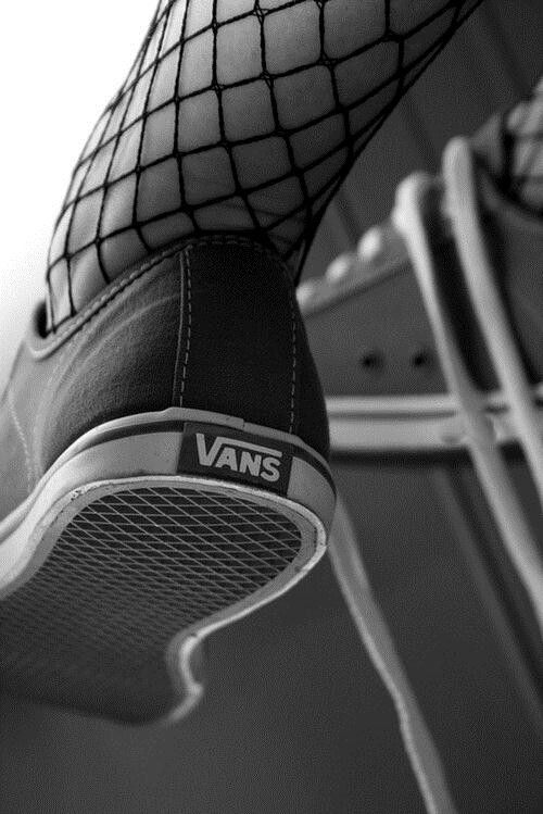 Fishnets and Vans - They make anything even more Fashionable.