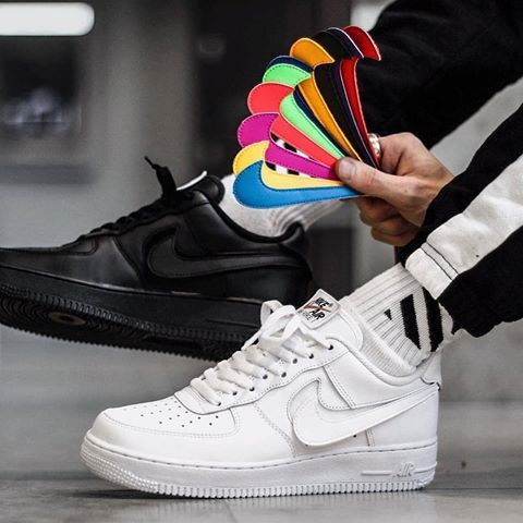 Respetuoso pizarra Cava  What colour will you rock? The Air Force 1 'Swoosh' pack is available right  now! : @sachfb | Nike fashion shoes, Sneakers fashion, Nike sneakers outfit