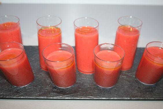 Gazpacho de sandia. #crema #cremafria #primerplato
