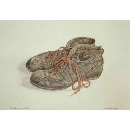 De schoenen van Abe. Ik ben begonnen met schilderen, net zoals ik begonnen ben met ademhalen.  Zonder dat ik me er van bewust was.  Het is gewoon een drang, van binnenuit.  Net als eten en drinken.