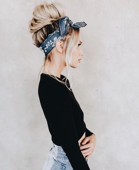 Scarves Howtowear Fashion Hair Scarf Styles Hair Styles Scarf Hairstyles
