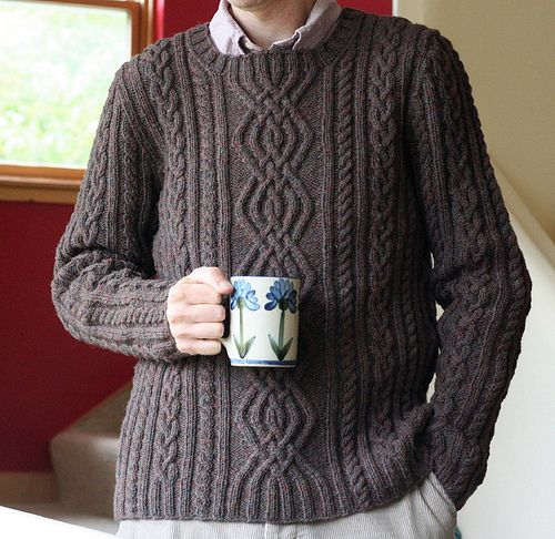 pattern for cable sweater, \