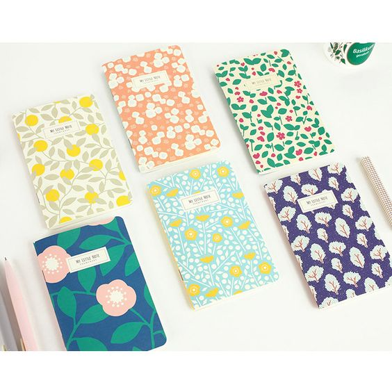 Livework Promenade flower pattern mini lined notebook - fallindesign