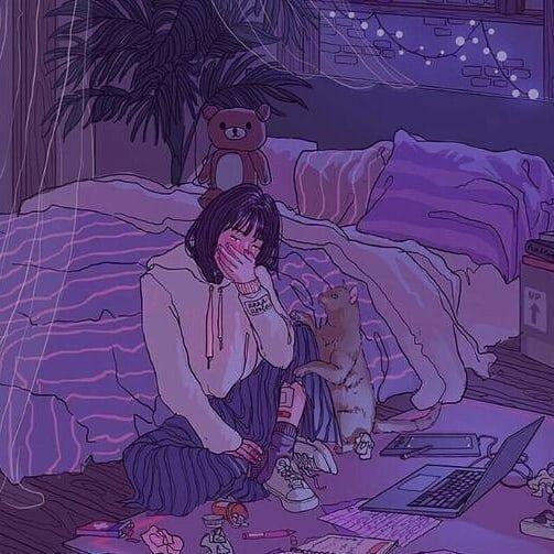 S A D V I B E L O F I Aesthetic Anime Aesthetic Art Anime Scenery Wallpaper