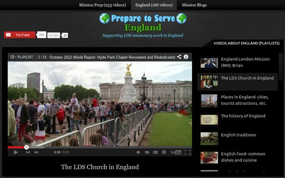A collection of LDS-friendly travel videos about England: the culture, food, wildlife, weather, history, LDS Church, etc.