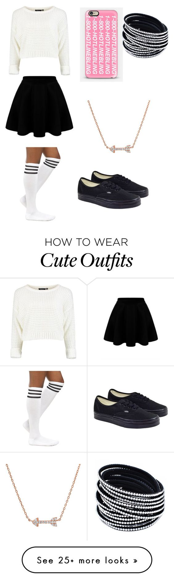 """""""cute outfit !"""" by puggygurl on Polyvore featuring Vans and Casetify"""