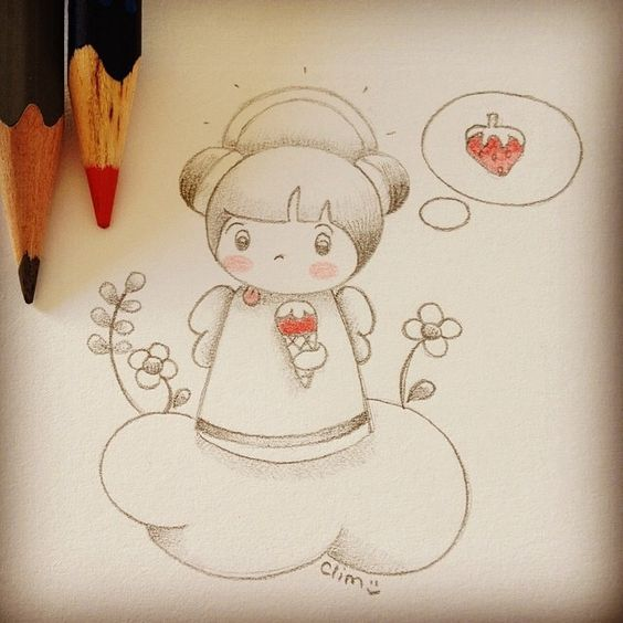 Yummyangel, sketch by clim. http://bulles-de-clim.blogspot.com