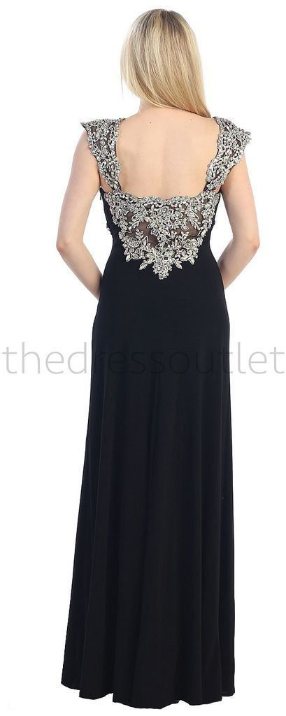Plus Size Fitted Stretchy Thick Straps Formal Evening Dress - The Dress Outlet - 13
