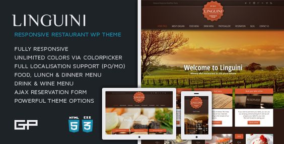 Linguini A Classic Restaurant WordPress Theme Wordpress and - po form template